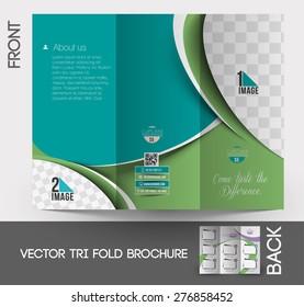 Cup Cake Shop Tri-Fold Mock up & Brochure Design