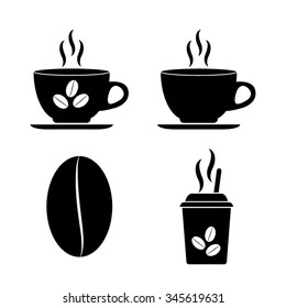 Cup of cofee - vector icon, set