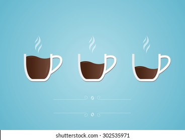Cup of coffee with heart. Photo-realistic vector.