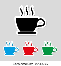 cup of coffee icon - vector
