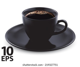 Cup of coffee isolated. Vector illustration