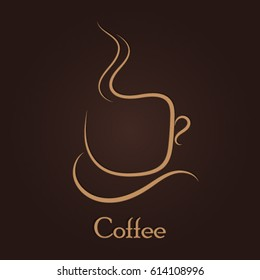 Cup of coffee logo icon