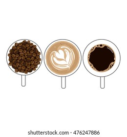 Cup of coffee. on white background vector illustration