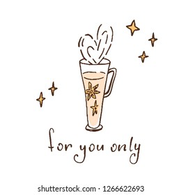 cup of coffee,  star, anise. for you