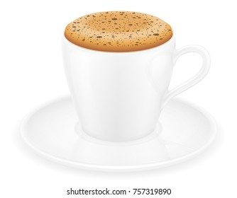 cup of coffee stock vector illustration isolated on white background