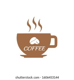 Cup with coffee symbol icon vector illustration on white background eps10