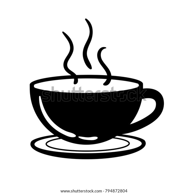 cup coffee tea black white icon stock vector royalty free 794872804 https www shutterstock com image vector cup coffee tea black white icon 794872804