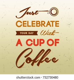 Cup Of Coffee Typography Design