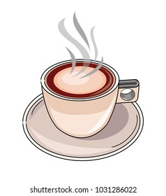 Cup of coffee - vector illustration