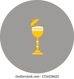 cup with consecrated hosts of the Catholic Church. Vector illustration for web and mobile design.