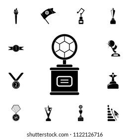 cup with a football sword icon. Detailed set of Sucsess and awards icons. Premium quality graphic design sign. One of the collection icons for websites, web design, mobile app on white background