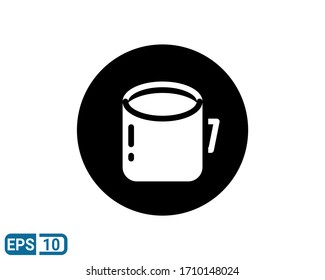 cup glyph style icon isolated on white background. Vector illustration for design graphic, website, UI. EPS 10