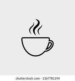 Cup of hot coffee icon