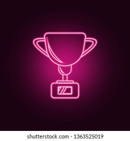 cup icon. Elements of Sucsess and awards in neon style icons. Simple icon for websites, web design, mobile app, info graphics