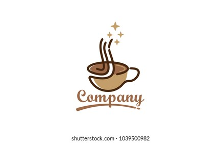 cup icon logo.coffee drink logo.coffee shop logo vector illustration design template
