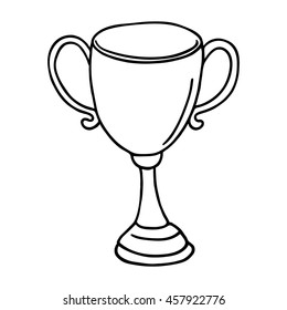 Cup icon. Outlined on white background.