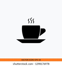 Cup icon sign vector. Web office illustration. Solid black on white background.