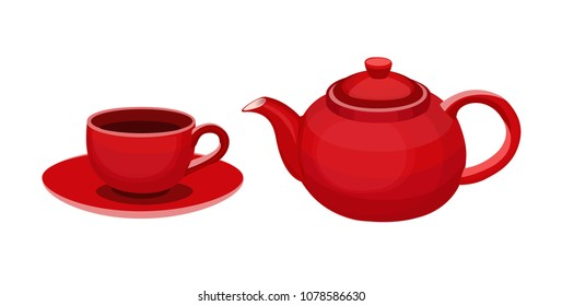 cup kettle red
