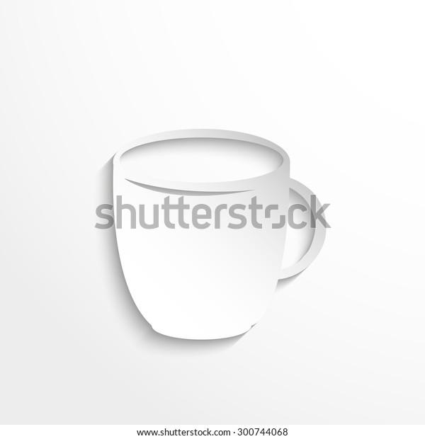 Cup Kitchen Utensils Equipment Vector Icon Stock Vector