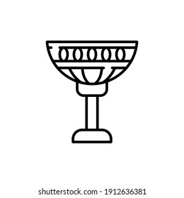 Cup Line Icon Isolated On White Background
