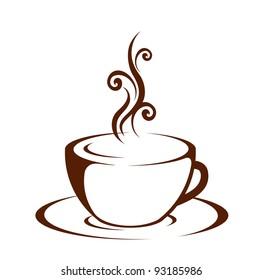 Cup (mug) of hot drink (coffee, tea etc)