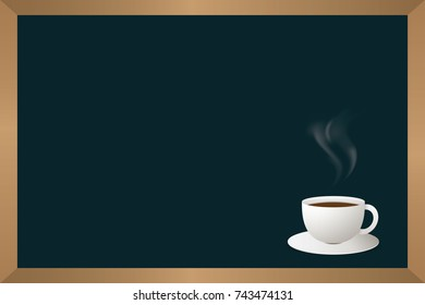 Cup off coffee and chalkboard vector illustration