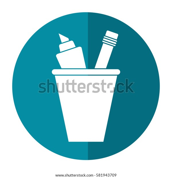 cup pencil school utensil shadow