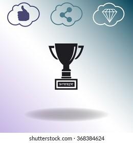 Cup premium illustration icon.