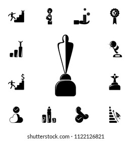 cup with silhouette of man icon. Detailed set of Sucsess and awards icons. Premium quality graphic design sign. One of the collection icons for websites, web design, mobile app on white background