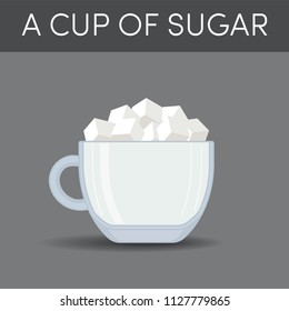 A cup of sugar, vector illustration.