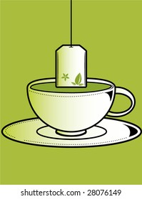 Cup of tea 1 - vector