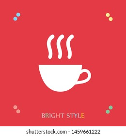 A cup of tea or cofee vector icon. Hot drink icon. The symbol of tea and cofee