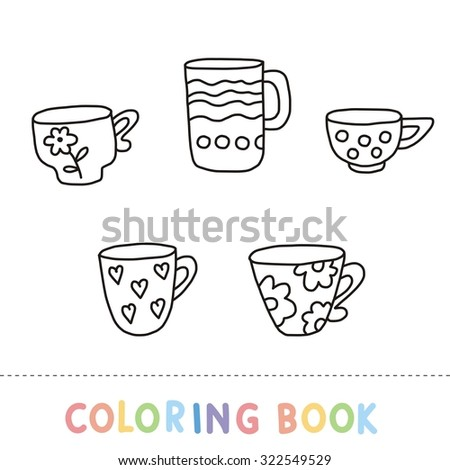 Cup Tea Coloring Page Stock Vector Royalty Free 322549529