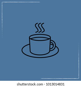 cup of tea line icon