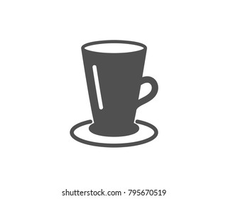 Cup of Tea simple icon. Fresh beverage sign. Latte or Coffee symbol. Quality design elements. Classic style. Vector