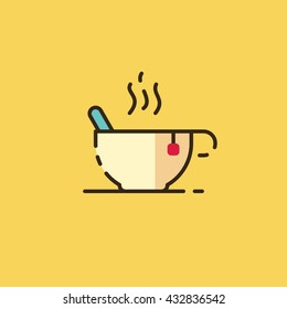 Cup of tea. Vector illustration