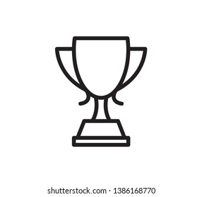 Cup trophy icon vector ilustration