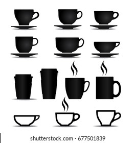 cup vector coffe and tea