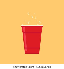Cup vector. symbol. free space for text. wallpaper.