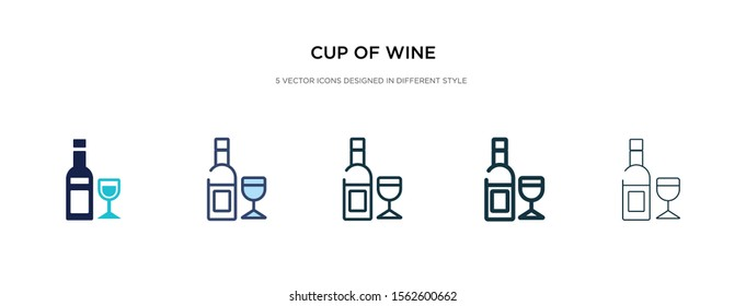 cup of wine icon in different style vector illustration. two colored and black cup of wine vector icons designed in filled, outline, line and stroke style can be used for web, mobile, ui