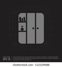 Cupboard Icon - Black Creative Background - Free vector icon