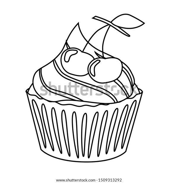 - Cupcake Coloring Book Vector Illustration Simple Stock Vector (Royalty  Free) 1509313292