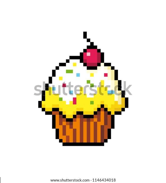 Image Vectorielle De Stock De Cupcake Cream Cherry Muffin