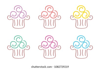 Cupcake Doodle Icons