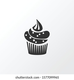 Cupcake icon symbol. Premium quality isolated muffin element in trendy style.