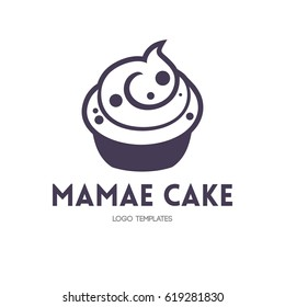 cupcake logo concept in simple style