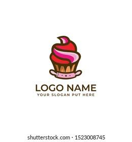 Cupcake logo design template vector eps