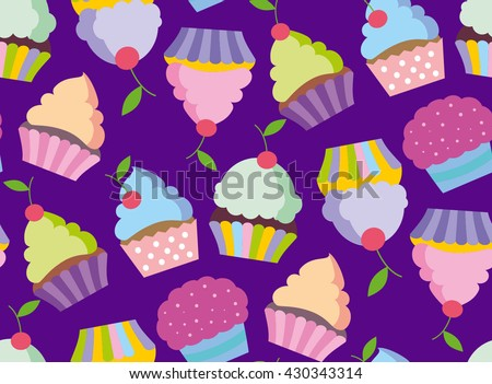 cupcake vector pattern happy birthday cupcake stock vector royalty