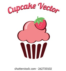 Cupcake yummy pink retro bakery logo badges and labels