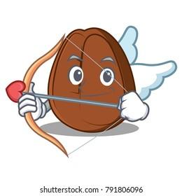 Cupid coffee bean character cartoon